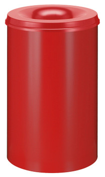 Vepa Self Extinguishing Waste Paper Bin 110 Litres - Red