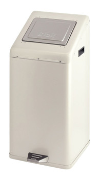 Vepa Carro-Kick With Push Lid 50 Litre - Ivory
