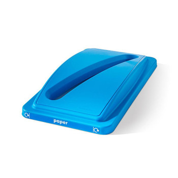 Straight Ecosort Blue Paper Lid