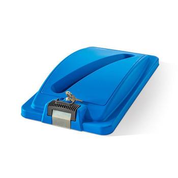Straight Blue Secure Lid