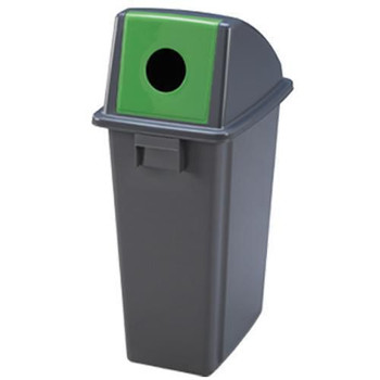 Manutan Bottle Waste Separation Bin with Green Lid - 80 L