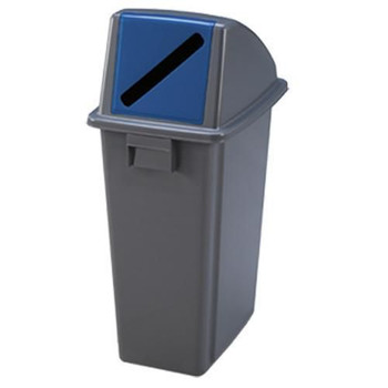 Manutan Paper Waste Separation Bin with Blue Lid - 80 L