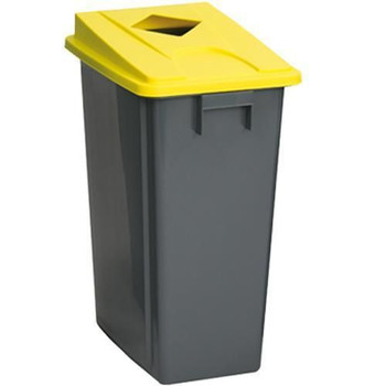 Manutan Bin With Yellow Can Lid - 80 L