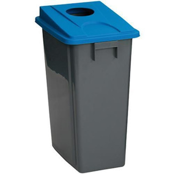 Manutan Bin With Blue Bottle Lid - 80 L
