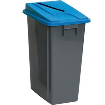 Manutan Bin With Blue Paper Lid - 60 L