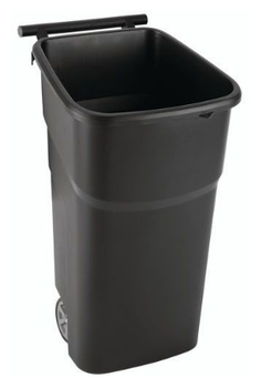 Manutan Black Wheeled Bin With Red Lid - 100L
