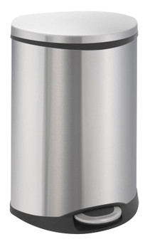 Vepa Eko Shell Recycling Bin 22+22 Litres - Matt Stainless Steel