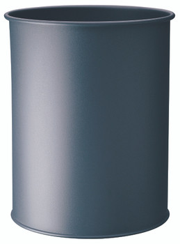 330158 - Durable 15L Round Metal Waste Basket - Charcoal