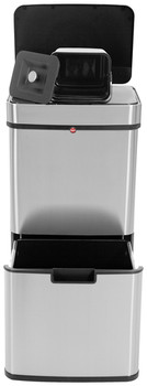 Hailo Öko Vario XL - 50L Sensor Bin - Stainless steel anti-fingerprint