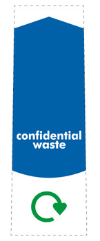 Slim Waste Stream Sticker - Confidential Waste