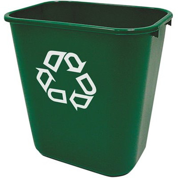 Rubbermaid Rectangular Wastebasket 26.6 L - Green