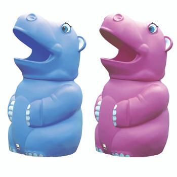 Leafield Hugo Hippo Bin with Plastic Liner - Green 70L