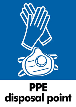 PPE Waste Sticker - A4