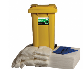 Ecospill -  Oil Only 120L Spill Kit in 2 Wheeled Bin - Response Kit