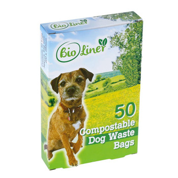 BLDOG - All-Green BioLiner Compostable Dog Waste Bags - 50 Bags Per Pack