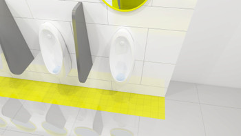 WEE-SCRN ICE - Vectair Wee-Screen® - Ice Cool - Washroom - Flexible Material Moulds to Shape of Any Urinal to Form A Secure Fit