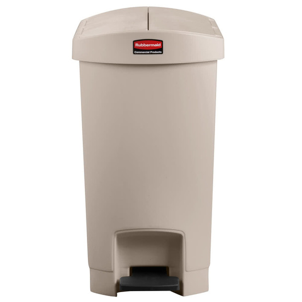 Rubbermaid Slim Jim 30L/8G Resin End Step Step-On Beige