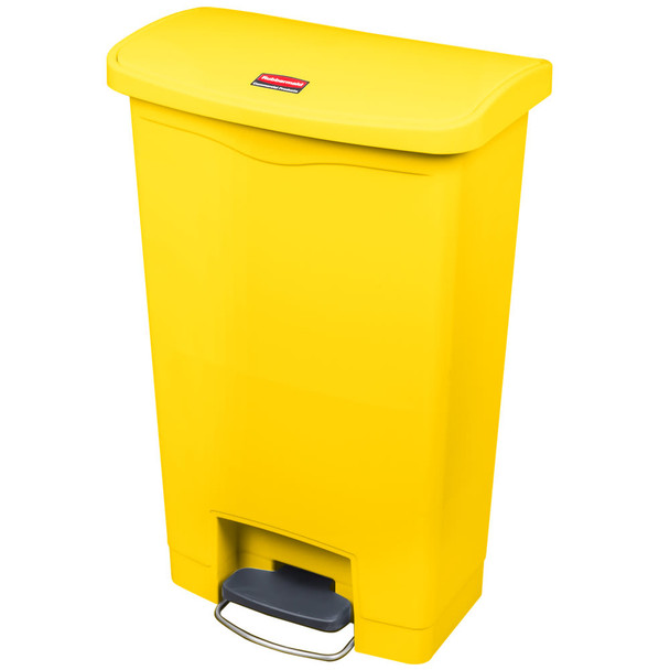 Rubbermaid Slim Jim 50L/13G Resin Front Step Step-On Yellow