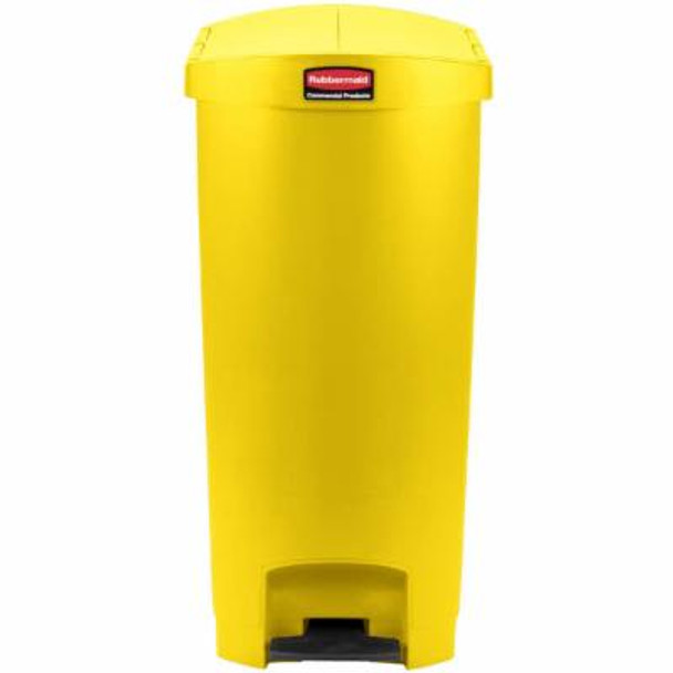 Rubbermaid Slim Jim 68L/18G Resin End Step Step-On Yellow