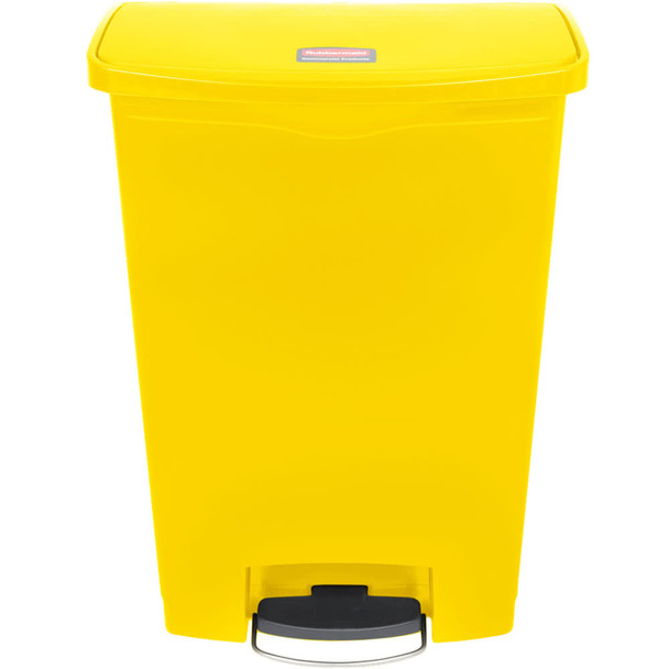 Rubbermaid Slim Jim 90L/24G Resin Front Step Step-On Yellow