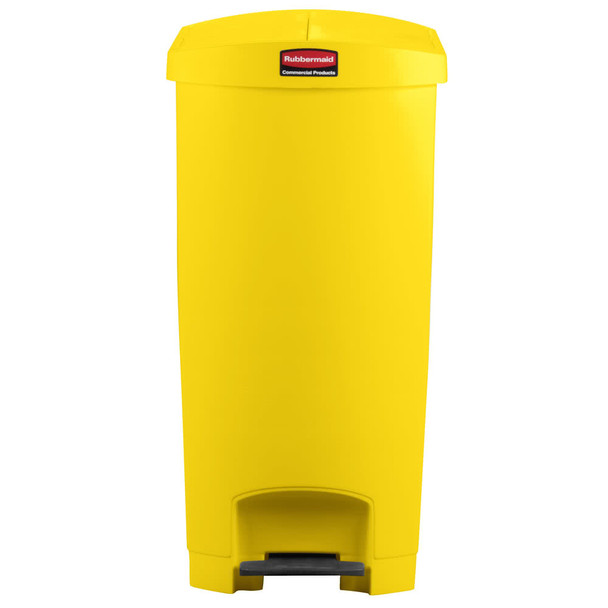 Rubbermaid Slim Jim 90L/24G Resin End Step Step-On Yellow