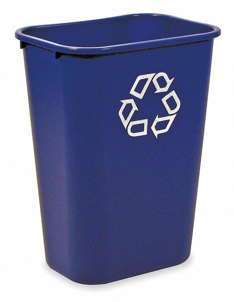 Rubbermaid Rectangular Wastebasket 39 L - Blue