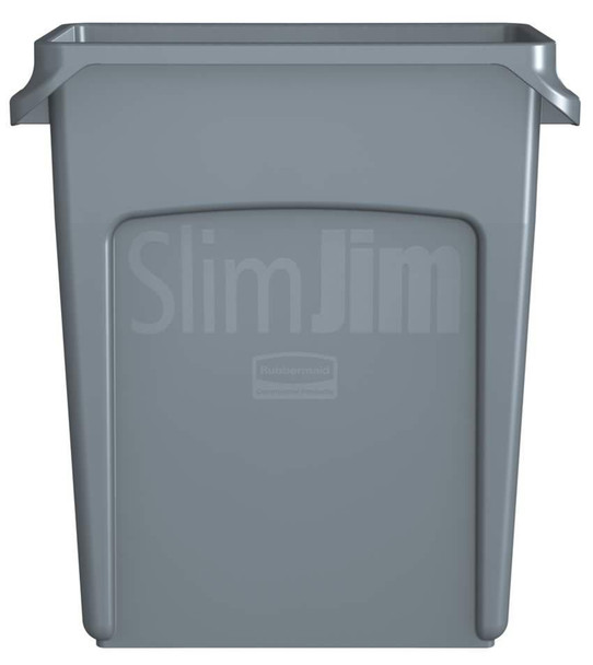 Rubbermaid Slim Jim Waste Container With Handles 60 L