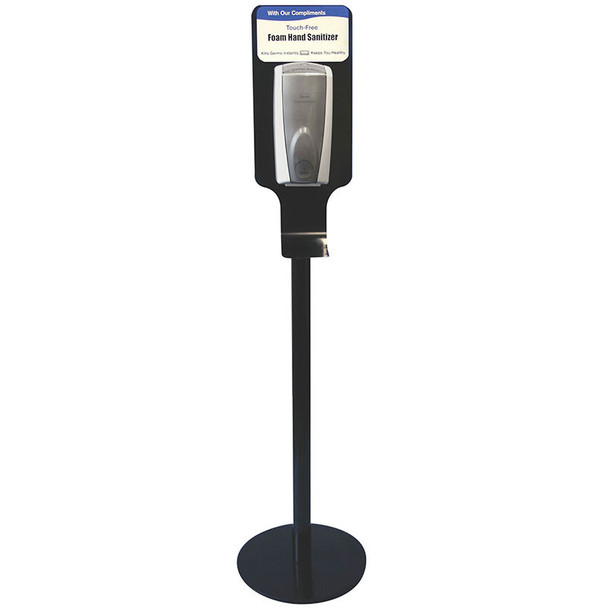 Rubbermaid Hand Hygiene Station - Black Steel Free-Standing Station