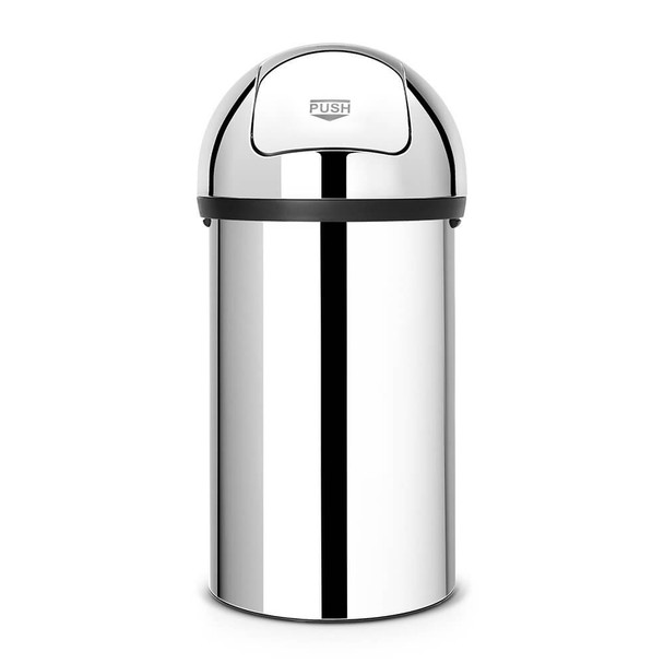 Brabantia Push Bin 60 litre - Brilliant Steel