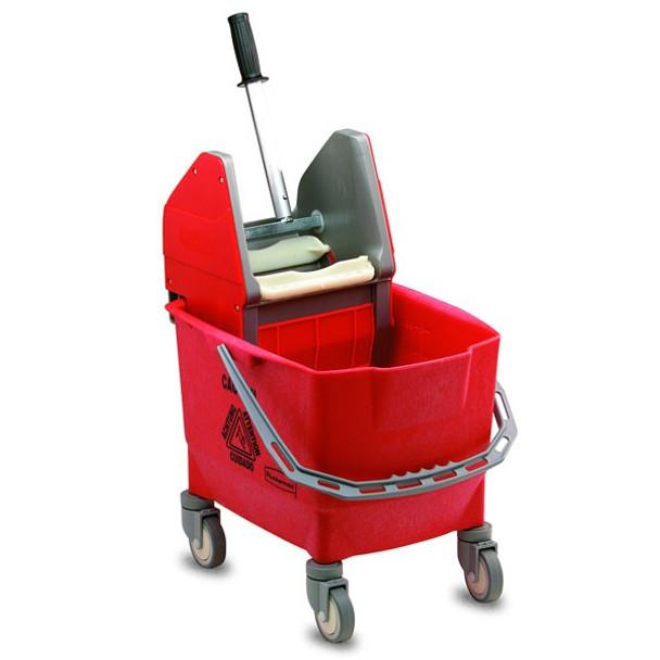 Rubbermaid Combo Bravo (25 L Bucket + Wringer) - Red