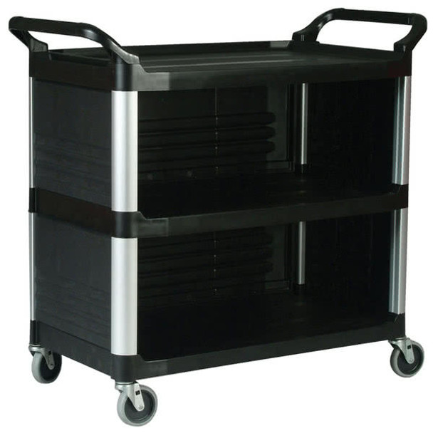 Rubbermaid X-Tra™ Cart Closed 3 Sides - Black