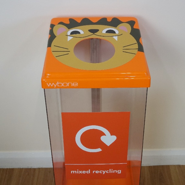 Wybone Box Cycle Animal Faces Lion - Mixed Glass