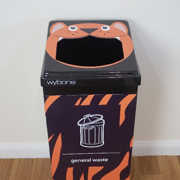 Wybone Box Cycle Animal Faces Tiger - General Waste