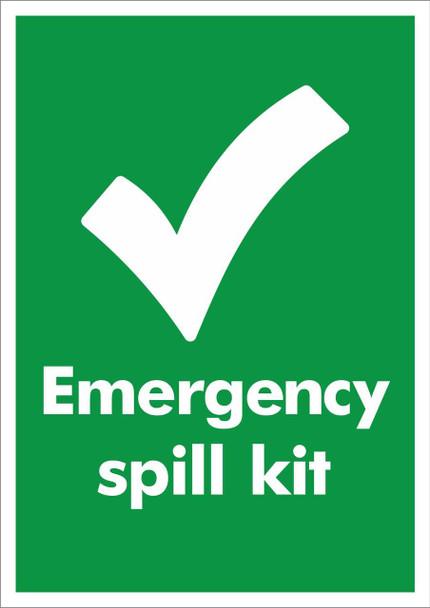 Large A4 Sticker - Emergency Spill Kit