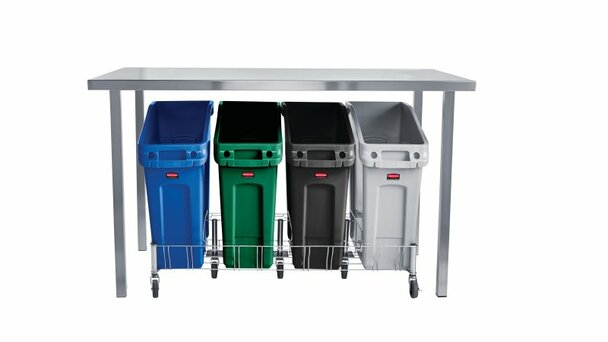 Rubbermaid Slim Jim Under Counter Container 49 L - Green