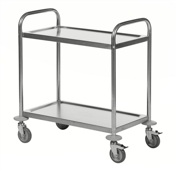 Konga Stainless Steel Trolley 2 Tier - 685 x 380mm