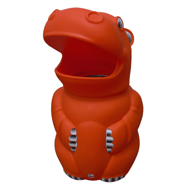 Leafield Harriett Hippo Bin with Plastic Liner - Orange 70L
