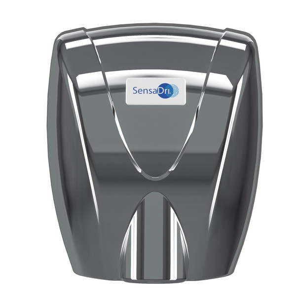 SENSADRI-EU-C - SensaDri® Hand Dryer 230v - Chrome - Front - Infra-red, Touch-free Operation Eliminates the Need to Make Contact with Potentially Contaminated Surfaces
