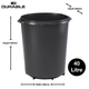 Durable Durabin Round - 40 Litre - Black, Pack of 6