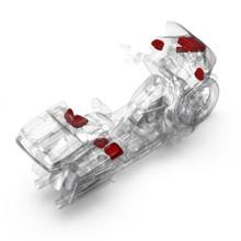 1998-2013 Harley-Davidson® Road Glide® Ultra Source Unit, 6 Speaker & Amp Kit