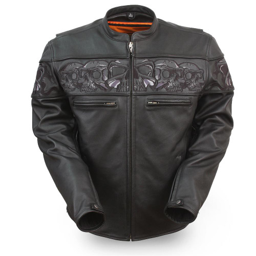 SAVAGE SKULLS LEATHER JACKET