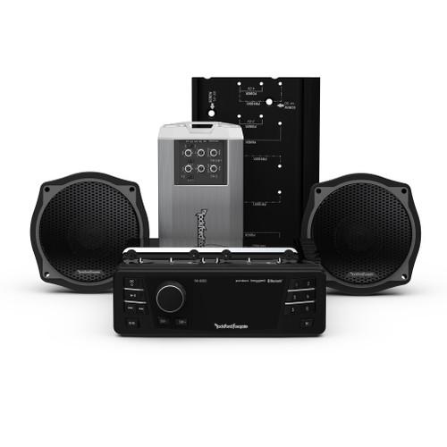 2 Speaker & Amp Kit & Source Unit 1998-2013 for Road Glide® and Street Glide®