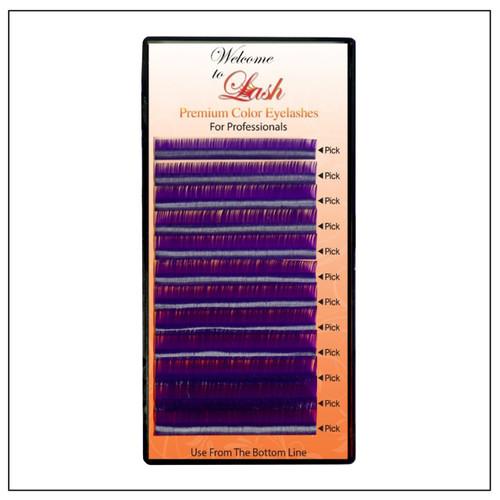 Mixed Purple Classic CC Curl Premium Mink Eyelash Extension Tray