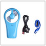 Mini Fan Blue USB Cable with FREE Sony 4xAA Batteries - Welcome To Lash Supplies -7