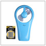 Mini Fan Blue USB Cable with FREE Sony 4xAA Batteries - Welcome To Lash Supplies -1