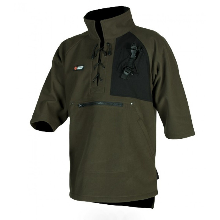 To do a job well you need the right tools, and it is no different with clothing. The Stoney Creek Dogger Bush Shirt has been designed to make your job easier. Large hand warmer pockets and a zip up utility pocket on the front will keep your gear secure, the chest mounted RT Holder keeps your radio or electronics at your fingertips. The 100% windproof shell with a fleece liner keeps you protected even in a biting southerly.
