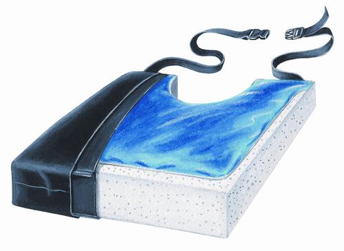 "Gel-Foam 18"" Cushion with Coccyx Cutout & LSI Cover"