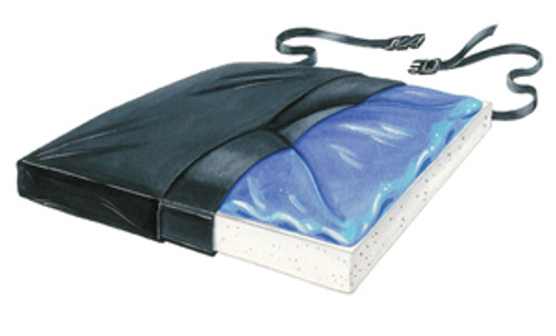 "Gel-Foam 20"" X-Cushion, w/Coccyx Cutout w/LSI Cover"