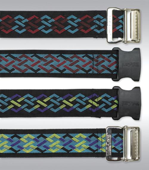 Nylon Gait Belt, Delrin Buckle - Geo Pattern A