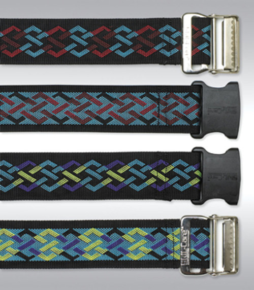 Nylon Gait Belt, Delrin Buckle - Geo Pattern D